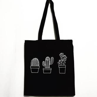 Эко-сумка шоппер «Кактусы»