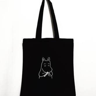 Эко-сумка шоппер «Бегемотик»