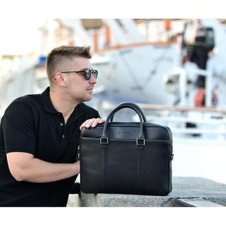 Классическая кожаная сумка черная