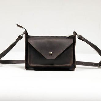 """Женская сумка """"Модель №29"""" Винтажная кожа цвет Шоколад"""