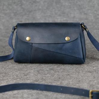 """Женская сумка """"Модель №22"""" Винтажная кожа цвет Синий"""