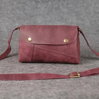 """Женская сумка """"Модель №22"""" Винтажная кожа цвет Фиолетовый"""
