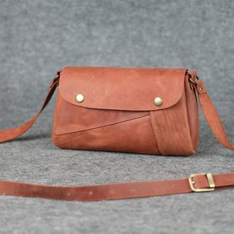 """Женская сумка """"Модель №22"""" Винтажная кожа цвет Коньяк"""