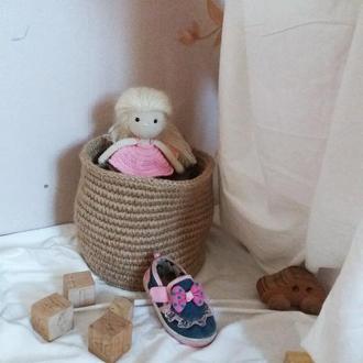Лялька в'язана в сарафані подарунок для дівчинки