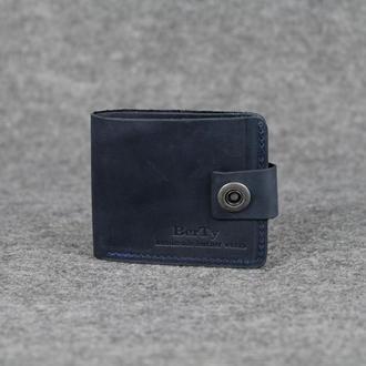 """Кожаный кошелек """"Модель №104"""" Винтажная кожа цвет Синий"""