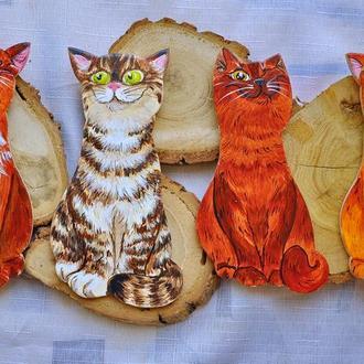 """магнит """"Счастливые коты"""""""