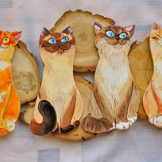 """магниты """"Счастливые коты"""""""