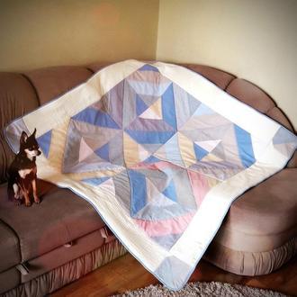 Детское легкое одеялко в стиле пэчворк