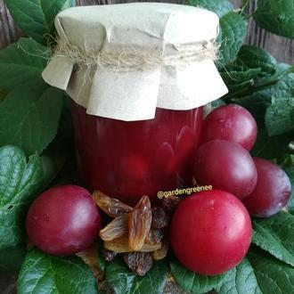 Крафтовий джем слива з родзинками та кориця домашний джем варенье варення подарок к столу