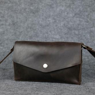 """Женская сумка """"Модель №24"""" Винтажная кожа цвет Шоколад"""