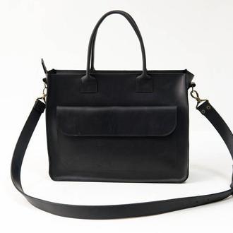 """Женская сумка """"Модель №35"""" Винтажная кожа цвет Черный"""