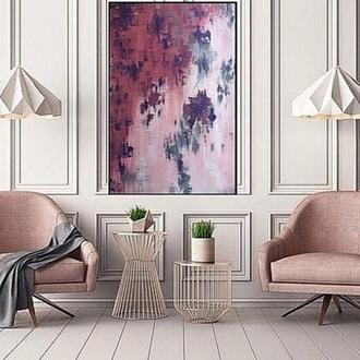 """Абстракция. Картина маслом """"Пурпурная Муза"""""""