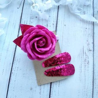 Набор резинка и заколочки для девочки