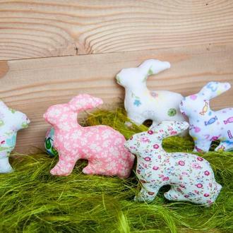Пасхальные кролики текстильные