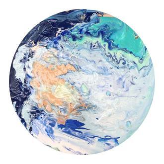 Флюидарт круглая картина «Море💙»