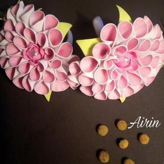 Объёмные Цветы на резинке, подарок девочке, для праздника
