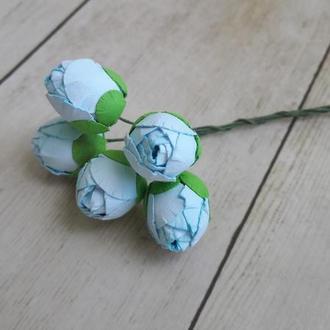 Бутоны пиона нежно-голубые