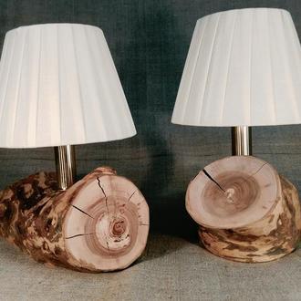 Комплект светильников для спальни из яблони