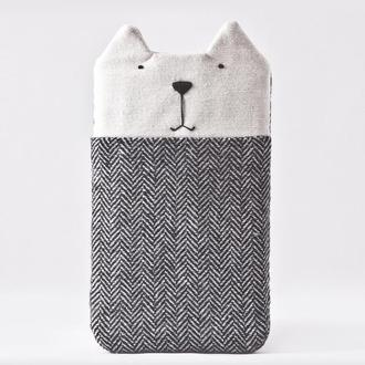 Чехол кот для iPhone XS Max, Серый чехол для iPhone 8 Plus, тканевый чехол для iPhone XS