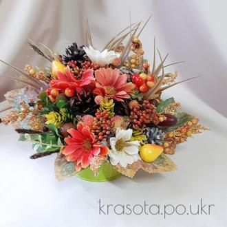 Осіння композиція в відерці від Krasota Po Ukr