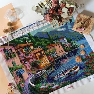 """Картина вышитая бисером """"Венеция"""""""