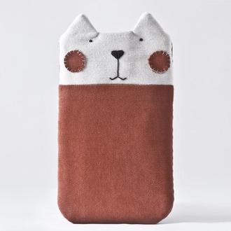 Чехол кот для iPhone 6/6s, Тканевый чехол для xiaomi redmi note 7