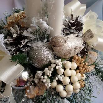 Новогодняя композиция Снежная