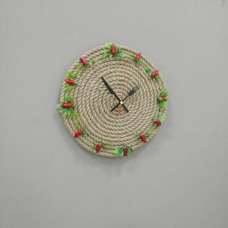 Часы настенные джутовые