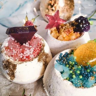 Бомбочки-чаши для ванны «Манго-маракуйя» с морской солью
