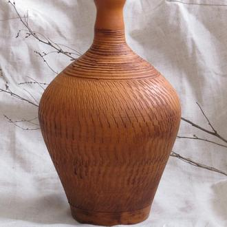 Бутыль глиняный