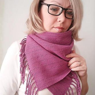 Тканый шарф Ярко-розовый