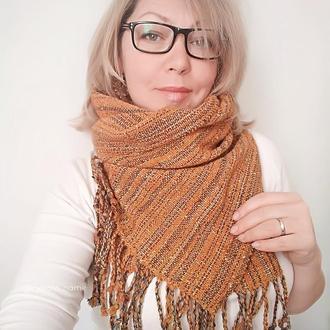 Тканый шарф Осенний