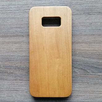 """Дерев'яний чохол """"Вишня"""" для Samsung S8 з індивідуальним лазерним гравіюванням"""