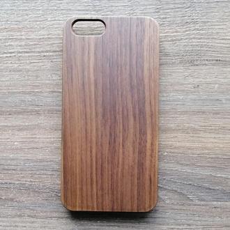 """Дерев'яний чохол """"Горіх"""" для Iphone 6 / 6S з індивідуальним лазерним гравіюванням"""