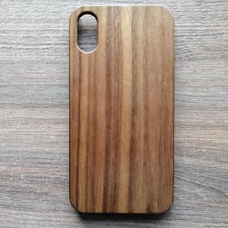 """Дерев'яний чохол """"Горіх"""" для Iphone X / XS з індивідуальним лазерним гравіюванням"""