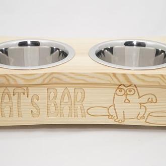 Подставка с мисками для котов Pet's Bar кот Саймона