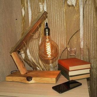 Настольная лампа в стиле Эко Лофт