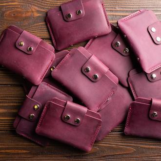 Разпродажа кошельков из натуральной кожи в бордовом цвете, отправка в день заказа