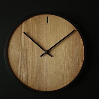 """Часы """"Danemark black"""" Настенные часы из дерева"""