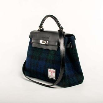 Harris Tweed сумка Leattweed Kenzi black watch
