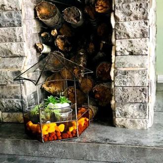 Комнатный вазон для мини-сада, флорариум, геометрическая стеклянная емкость для суккулентов