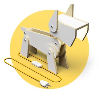"""Светильник трансформер собака """"Вольт"""" (настольная лампа, напольный прожектор, ночник)"""
