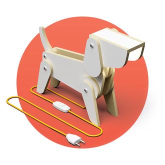 """Светильник трансформер собака """"Джой"""" (настольная лампа, напольный прожектор, ночник)"""