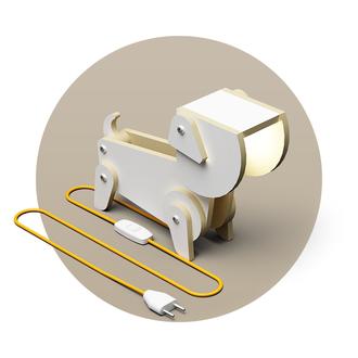 """Светильник трансформер собака """"Молли"""" (настольная лампа, напольный прожектор, ночник)"""