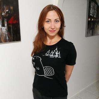 Женская футболка с милейшим бобром
