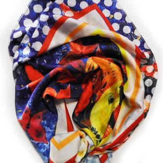 Дизайнерский шелковый платок