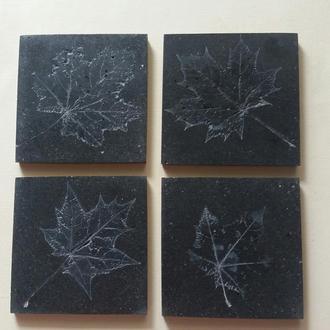 """Декоративные костеры / подставки """"Осень"""" в стиле LOFT . Набор из 4 шт."""