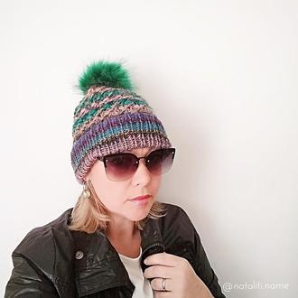 Вязаная шапка Multicolor 3