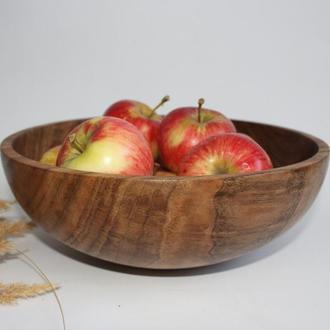 Великий салатник, фруктовниця з дерева