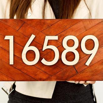 Прямоугольный номер на дом, разные цвета и размеры, принимает индивидуальные заказы